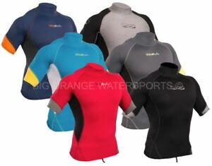 Mens Rash Vest Short Sleeve Wetsuit Surf Swim UV+ Sun Guard Top GUL XOLA