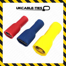 Fully Insulated Female Spade Terminals Electrical Crimp Wire Connector