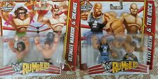 WWE MATTEL RUMBLERS THE ROCK STONE COLD SHEAMUS ULTIMATE WARRIOR SET OF 4 NEW