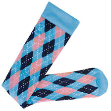Prestige Medical Argyle Blue and Pink 15-18mmHG Compression Knee Sock