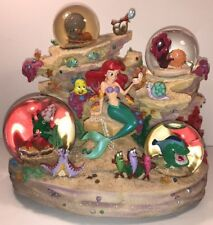 Disney Little Mermaid Ariel Under The Sea Coral Reef Symphony 4 Mini Snowglobe
