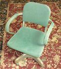 Vintage Harter Rolling Swivel Industrial Office Metal Tanker Chair Original
