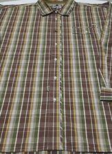 Akademiks Men's 3XL Long Sleeve Brown Multi Plaid Shirt