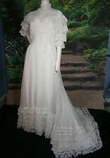 VTG UNION USA BRIDAL FORMAL WEDDING GOWN 10 DRESS LACE BALLGOWN PRINCESS