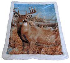 Throw Rug Soft Sherpa Blanket Wildlife Animal Horse Wolf Deer Panda Bear Eagle Horses