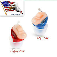 US Invisible MiNi Digital Hearing Aid CIC Small Sound Voice Amplifier Enhancer