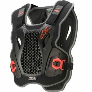 NEW ALPINESTARS BIONIC ACTION BLACK/RED CHEST PROTECTOR XL/2XL AS670042113085