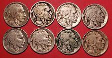 8 EARLY BUFFALO NICKELS 1913, 1914, 1915, 1916, 1917, 1924, 1924D, 1925