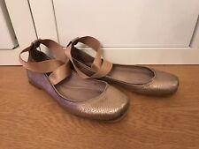 Chloe, Ballerinas, Slipper, Schuhe, Loafer, Leder, Metallic, Gr. 38, Gr.39