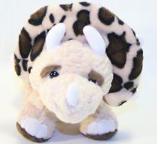 "Ganz Webkinz TRICERATOPS Dinosaur Plush Toy 13""  Cheetah Print STuffed Lovey"