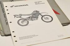 2004 XR650L XR650 L GENUINE Honda Factory SETUP INSTRUCTIONS PDI MANUAL S0212