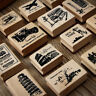 Retro World Scenery Wooden Mounted Rubber Stamps DIY Postcards Scrapbook Craft