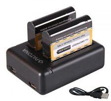 Dual Ladegerät+ 2 Akku für Garmin VIRB Ultra 30  010-01529-03 GMICP902937