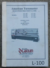 Lagun 18 And 21 American Turnaster Lathe Operations Service Parts Manual