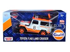 """TOYOTA FJ40 LAND CRUISER #8 """"GULF"""" LTD 2400 PCS 1/24 DIECAST CAR MOTORMAX 79658"""