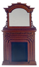 Dollhouse Miniature Chester Fireplace Platinum Collection