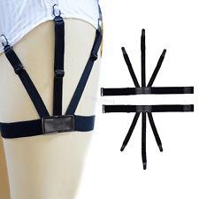 2 Pcs Mens Shirt Suspenders Braces For Shirts Gentleman Leg Elastic Suspenders