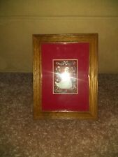 SWAN With Country Ribbons & Bows- Wood Frame - Original BIRD Primitive Art Work