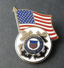 US COAST GUARD USCG USA FLAG ROUND LAPEL PIN BADGE 1.2 INCHES