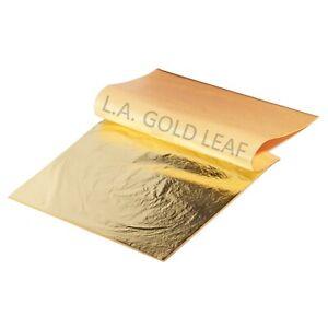 "L.A. Gold Leaf: Imitation Gold LOOSE Leaf  5.5"" x 5.5"" (25 Sheets)"