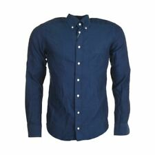 "ETON Shirt Blue Herringbone Cotton Slim Fit 38cm / 15"" Collar RRP £130 MC 101"