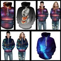 Tops Womens Jumper Sweatshirt Mens Pullover Graphic Hooded 3D Print Hoodie P