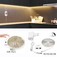 Waterproof Dimmable LED Strip Light Hand Wave Motion Sensor Kitchen Wardrobe USB