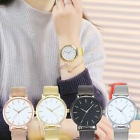 Women Fashion Quartz Stainless Steel Band Watch Simple Casual Analog Wrist Watch