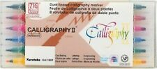 6 PACK Zig Memory System Calligraphy Dual-Tip Markers Scrapbooking Card Making