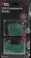 Xmas Accessory 150 Christmas Tree Ornament Hooks Green - 2 Types