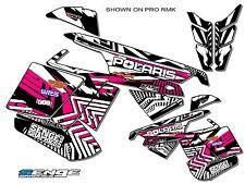 2011 2012 2013 2014 POLARIS PRO RMK SWITCHBACK PRORMK GRAPHICS DECO WRAP PINK