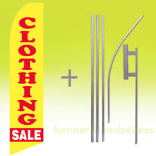 Clothing Sale Swooper Flag Kit Feather Flutter Banner Sign 15' Tall - yb