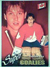 PATRICK ROY (TEAM CANADA) '96 INTERNATIONAL SUPER GOALIES INSERT CARD  *SP*