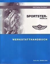 HARLEY Reparaturhandbuch 2003 Sportster XLH 883 1200 Hugger DEUTSCH 99484-03G