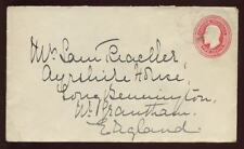 CANADA BC 1915 KE7th STATIONERY COVER...WESTBANK to UK