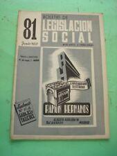 REVISTA - MAGAZINE BOLETIN DE LEGISLACION SOCIAL Nº 81