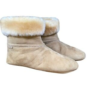 Overland Men's 12 Ethan Sheepskin Slippers Above The Ankle Boots