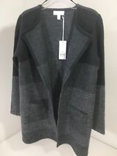 WHITE LABEL WHITE COMPANY WOMEN'S PATCHWORK CARDIGAN  CHARCOAL UK:10/US:6 NWT