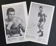 Vintage Canadian Heavy Weight Champion George Chuvalo Photo Cards (2) Boxing