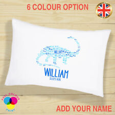 Personalised Pillow Case Dinosaur Party Birthday Gift Girls & Boys Cushion Cover