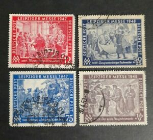 Germany stamps 1947/48. Leipzig fair. Good used 4 values.