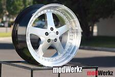 18x9.5 18x10.5 Inch +22 ESR SR04 5x120 Silver Wheels Rims E60 E46 E90 E92 M3 M5