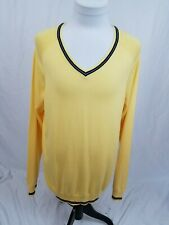 BROOKS BROTHERS Red Fleece NWT Yellow Blue Cotton/Wool V-Neck Sweater Mens XL