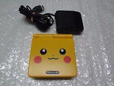 Game Boy System Advance SP Pokemon Pikachu Yellow Japan LOOSE