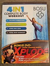 Bosu 4 in 1 Complete Body Workout 2 Dvd Keli Roberts Chalene Johnson w/ Bonus