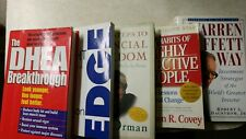 Nice Lot of 5 Self-Help Motivational Books Some of The Best Lessons Free Shipp