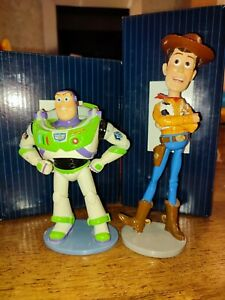 Buzz Lightyear Woody Figurine Toy Story Disney Showcase Collection boxed ENESCO