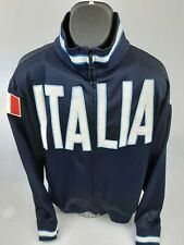 Kappa Full Zip Italia Navy Blue Jacket large