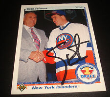 Scott Scissons Islanders 1991 Upper Deck 357 Signed JSA Certified NHL Autograph