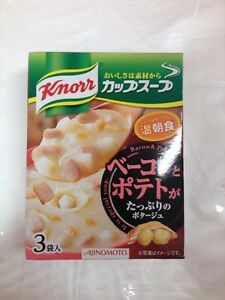 Knorr Ajinomoto Cup Soup Bacon and Potato Potage 3cups from Japan